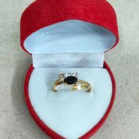 cincin mata putih 3 hitam 1 gram emas muda