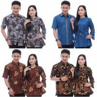Baju Batik Pasangan Couple Kapelan Pacar Cowok Cewek Modern Terbaru