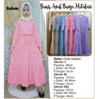 Baju Gamis Anak Perempuan / Busana Muslim Anak / Baju Anak Perempuan