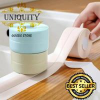 Sticker Tape PVC Perekat Anti Jamur Air Minyak Wastafel Dapur Toilet