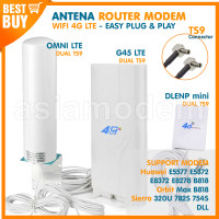 Antena Penguat Sinyal 4G Modem WIFI Huawei Orbit Max Sierra BOLT TS9