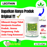 Lecithin softgel green world ORIGINAL obat batu empedu kolesterol