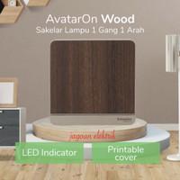 Saklar 1 Gang 1 Arah Avatar On Wood Kayu Schneider E8331L1LED_WD_G3