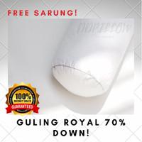 Guling Bulu Angsa Asli, Feather World Type Royal 70% Down uk 37x92cm