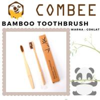 Eco Friendly Sikat Gigi Bamboo / Bambu Natural Alami - Cokelat, Box