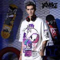 XXMAKE XXC167 Kaos Oversize Korea Japan Cowok T-shirt pria/wanita