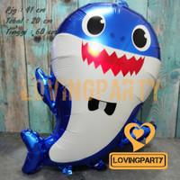 Balon foil Motif baby shark blue