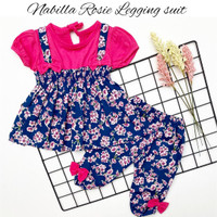 NABILLA ROSIE SUIT setelan anak baju bayi baju anak babeebabyshop - CREAM
