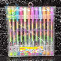 Rainbow Pen - Pulpen Gel warna warni ( isi 12pcs )