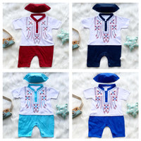 romper bayi anak laki-laki baju koko aqiqah 0-12 bulan ATTA