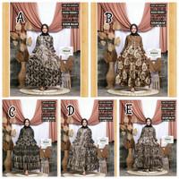 Gamis Malaman Sogan Dress Batik Muslim Modern Cantik Baku Pergi Pesta