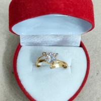 cincin mata putih 3 putih 1 gram emas muda