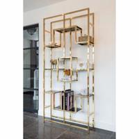 partisi penyekat ruangan minimalis bahan besi stenlis warna gold mewah