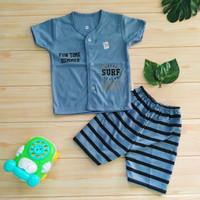 setelan baju bayi laki laki 3 - 6 bulan / Setelan Bayi Lengan Pendek