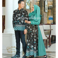 Baju Keluarga Couple Ibu Bapak Pasangan Cewek Cowok Batik Brokat Pesta