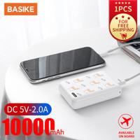 BASIKE Powerbank 10000mAh Fast Charging Dual USB Output LED PT605