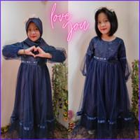 Baju pesta muslimah anak perempuan / dress pesta muslim anak perempuan