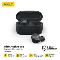 Jual JABRA ELITE ACTIVE 75t Earphone Bluetooth - Dark Grey