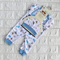 Jumper Bayi Perempuan Laki 0 6 Bulan Baby Baru Lahir Jumpsuit Set SNI - Kuning