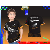 Kaos Baju Anak AEROWOLF 3D Fullprinting Terbaru dan Termurah