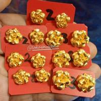 Anting Mawar Emas 24 karat kadar 99.9% berat 3 gram