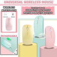 Mouse Wireless Bluetooth for iPad Tablet Samsung Tab Laptop Macbook - Merah Muda
