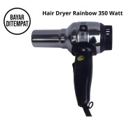 Alat Pengering Rambut Hair Dryer Rainbow 350 Watt - Hitam