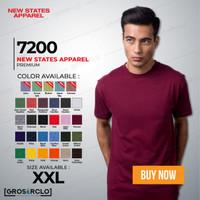 Kaos Polos NSA 7200 Premium Cotton T shirt Original Murah XXL