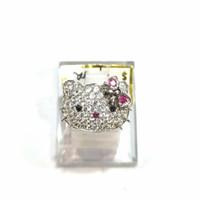 Cincin Hello Kitty Sz 10 Emas Putih 750