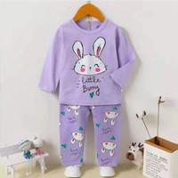 Baju Tidur/Setelan/Piyama Import Anak Perempuan 1-9th little bunny - 75