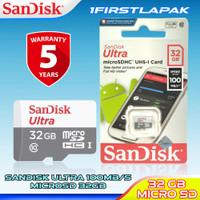 MicroSD Sandisk Ultra 32GB Class 10 100MBPS Memory Card 32 GB SDHC Ori