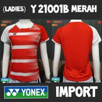 baju kaos badminton bulutangkis wanita ladies cewek yonex y21001b mera