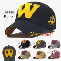 W Logo Jokers Topi Baseball Hat Cap Casual Sport Distro Vintage - Classic Black