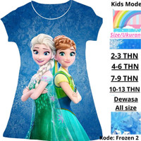 Baju Anak Frozen Dress Anak Perempuan Karakter Kartun Putri Terbaru
