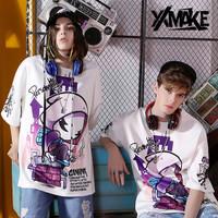 XXMAKE XXC167 Kaos Oversize Korea Japan Cowok T-shirt pria/wanita - White, S