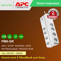 APC Surge Protector PM8GR / PM8-GR Stop Kontak Anti Petir 8 Lubang