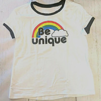 Kaos Justice ASLI T-shirt anak Perempuan ABG Be Unique size 18/20