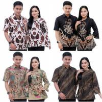 Baju Batik Couple Suami Istri Ayah Ibu Mama Papa Modern Kasual Terbaru