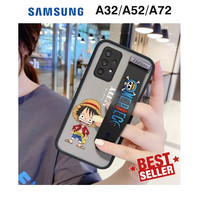 Case Samsung A32 A52 A72 ONE PIECE AERO Wristband Anime Casing Luffy - samsung a72, Biru