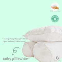 Bantal Guling Bayi Premium isi Mikrofiber BUKAN DACRON/ Baby Set