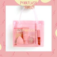 PINKFLASH Waterproof PVC Pink Hand Bag, Gift Bag, Tas Makeup PF-PVCBAG