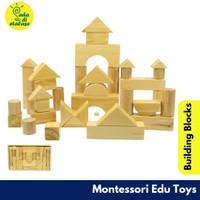Balok Kayu Susun Natural 42 pcs Mainan Anak Wooden Toys Building Block