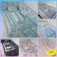 Paket Bumper Box Bayi Ukuran 120×70×30cm - Bedding Set Baby