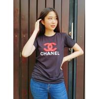 Kaos PREMIUM Wanita Lengan Pendek - Tshirt Cewe - Baju Katun Sporty - Putih