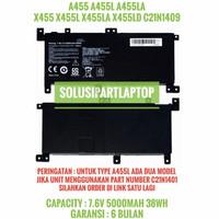 BATERAI ASUS A455 X455 A455L A455LA C21N1409