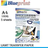T-Shirt Transfer Paper A4 5 lembar - Kertas Sablon Blueprint ( White )