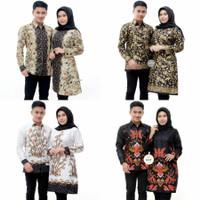 Baju Batik Couple Pasangan Mama Papa Keluarga Kerja Kantoran Terbaru