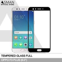Tempered Glass Full OPPO F3 Plus (6.0) | Anti Gores Kaca - Hitam