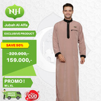 Baju Jubah Gamis Arab Muslim Pria Moccaa M L XL Lengan Panjang JM2 - M