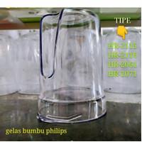 GELAS BUMBU PLASTIK BLENDER PHILIPS HR 2115/2116/2061/2071 - TEBAL
